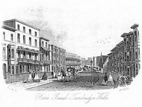 Tunbridge Wells - York Road - engraving